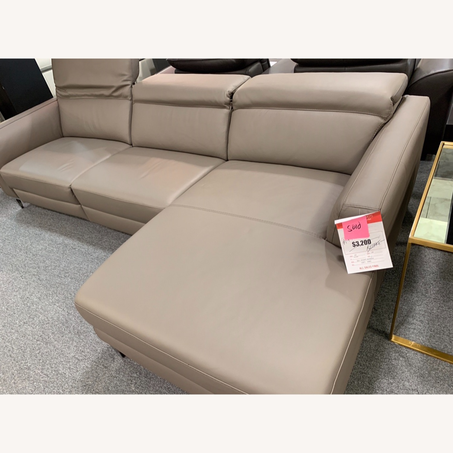 Nicoletti Vincent Leather Sectional Sofa - image-3