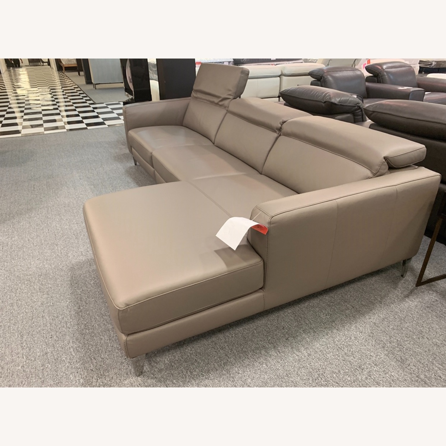Nicoletti Vincent Leather Sectional Sofa - image-4