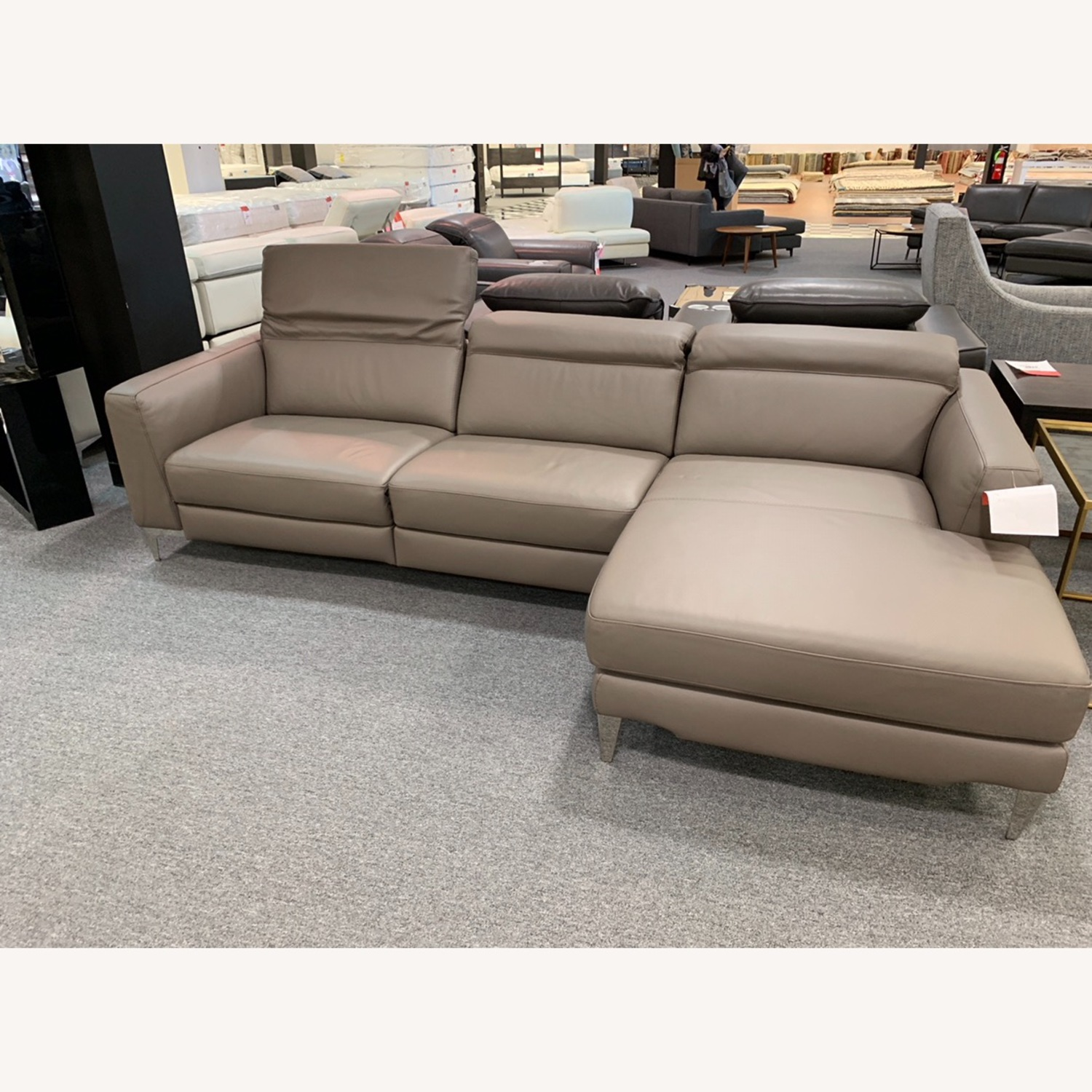 Nicoletti Vincent Leather Sectional Sofa - image-1