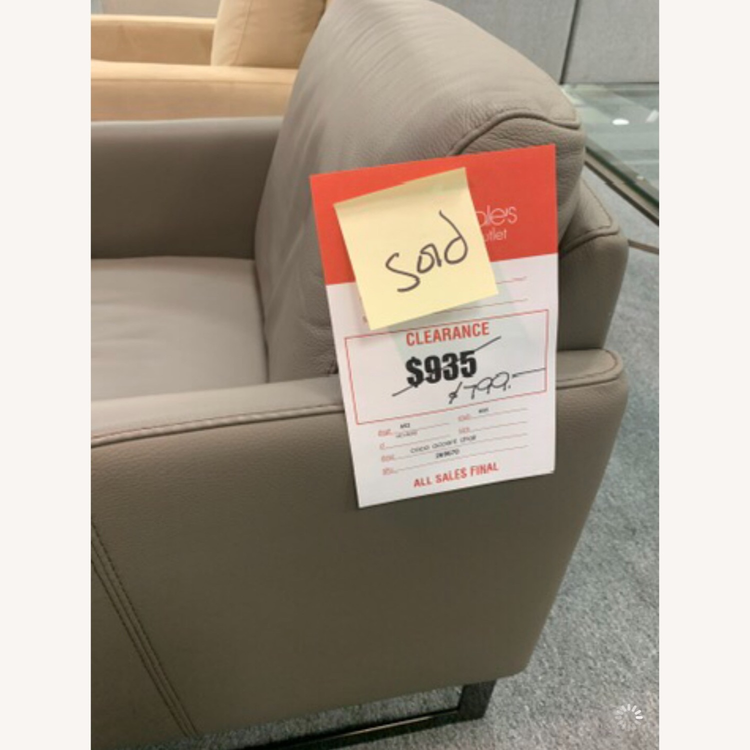 Nicoletti Vincent Leather Sectional Sofa - image-7