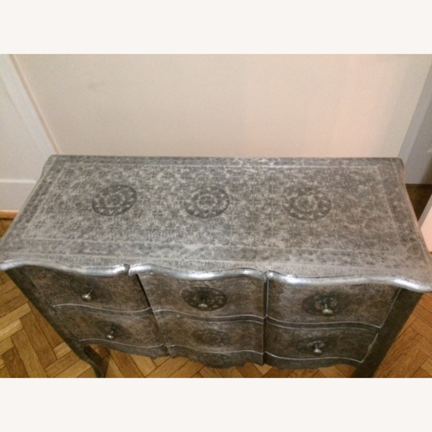 Wood & Metal Embossed Dresser - image-5