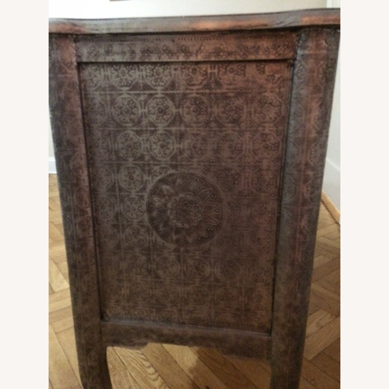 Wood & Metal Embossed Dresser - image-3