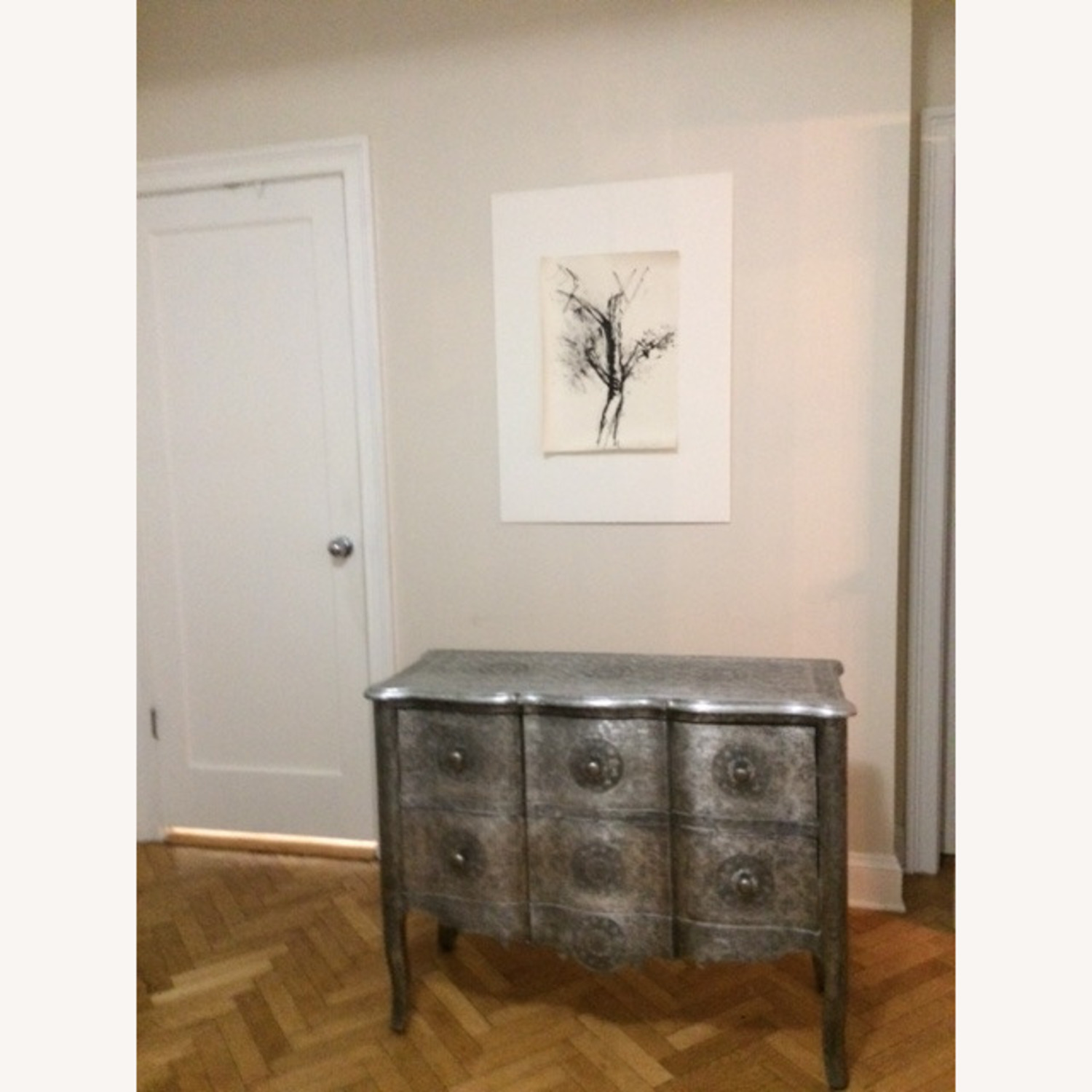 Wood & Metal Embossed Dresser - image-4