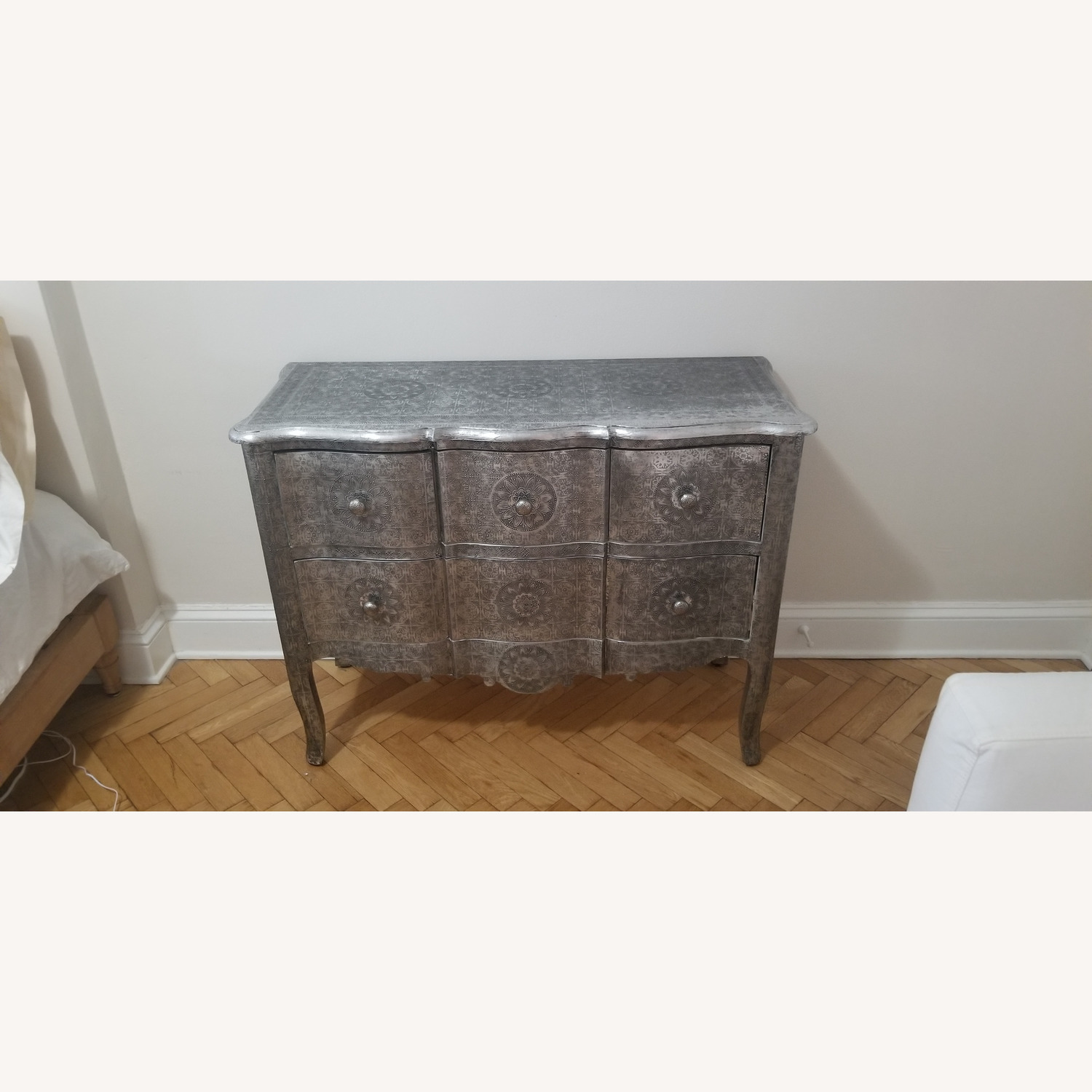 Wood & Metal Embossed Dresser - image-1