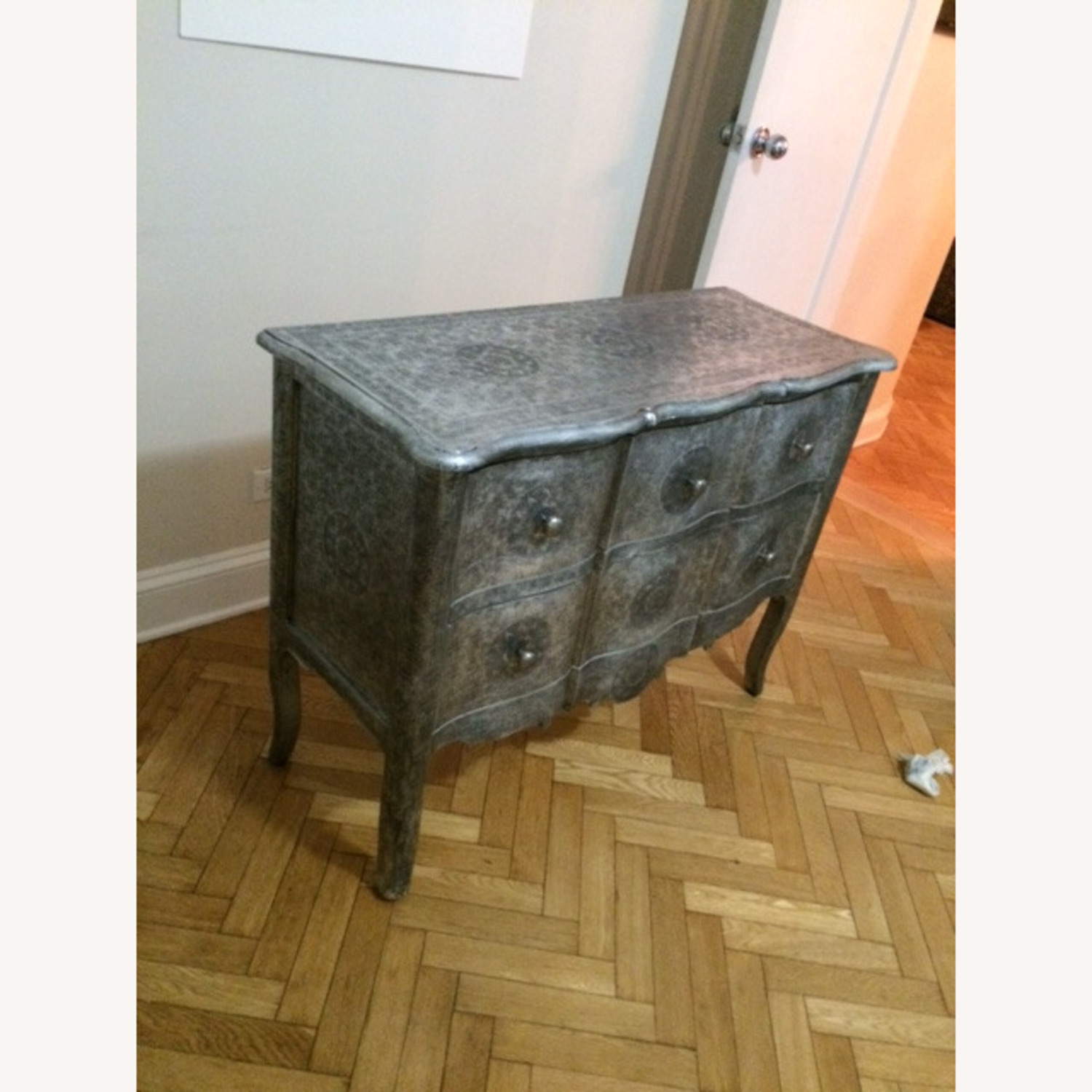 Wood & Metal Embossed Dresser - image-2