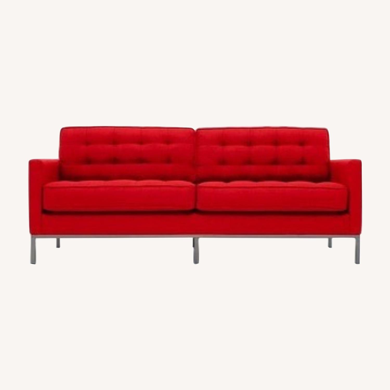 Thrive Furniture Mid Century Modern Red Loveseat - image-0