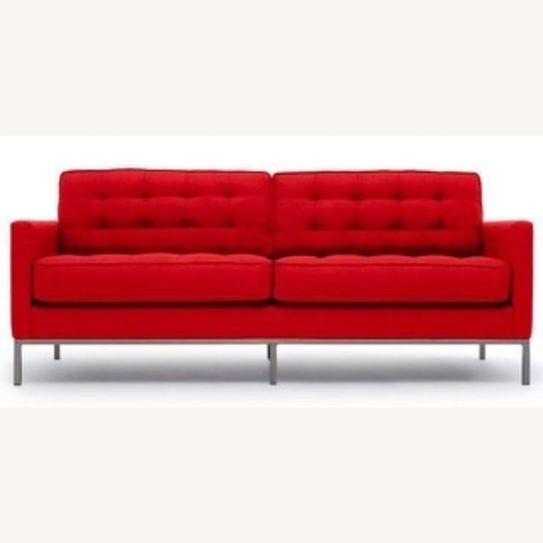 Thrive Furniture Mid Century Modern Red Loveseat - image-1