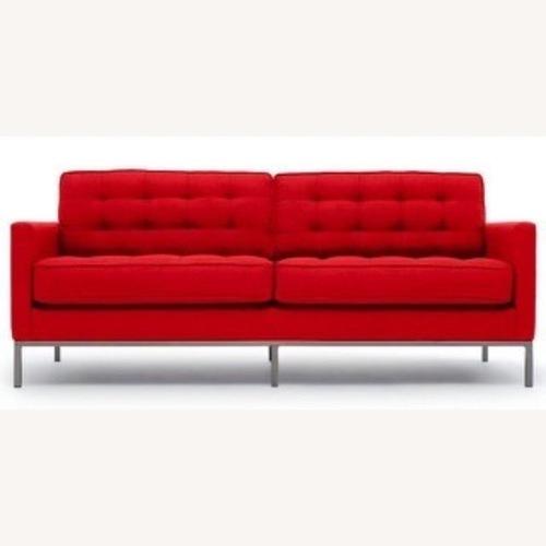 Thrive Furniture Mid Century Modern Red Loveseat
