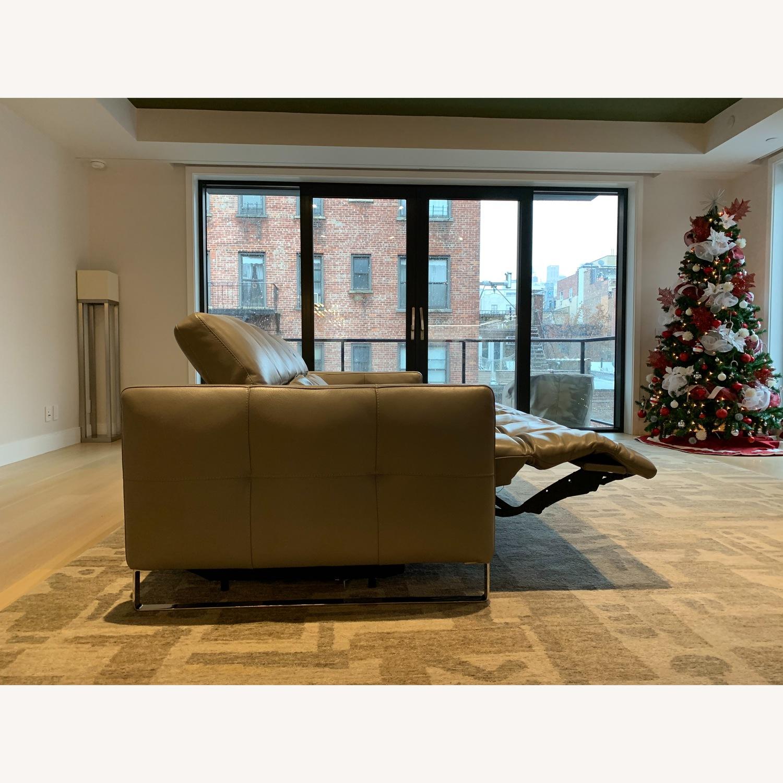 Natuzzi Philo Recliner Sofa in Grey Leather - image-4