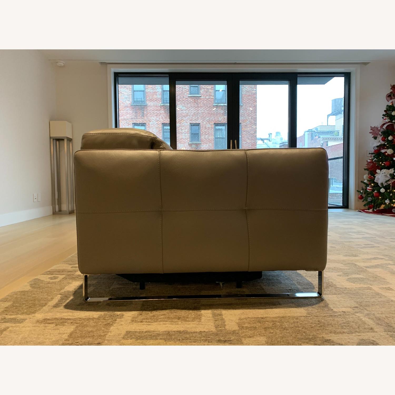 Natuzzi Philo Recliner Sofa in Grey Leather - image-7