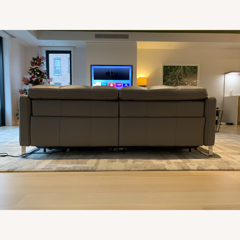 Natuzzi Philo Recliner Sofa in Grey Leather - image-2