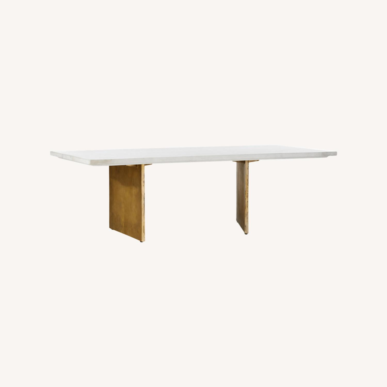 Cb2 Oblique Marble Coffee Table For Sale On Aptdeco