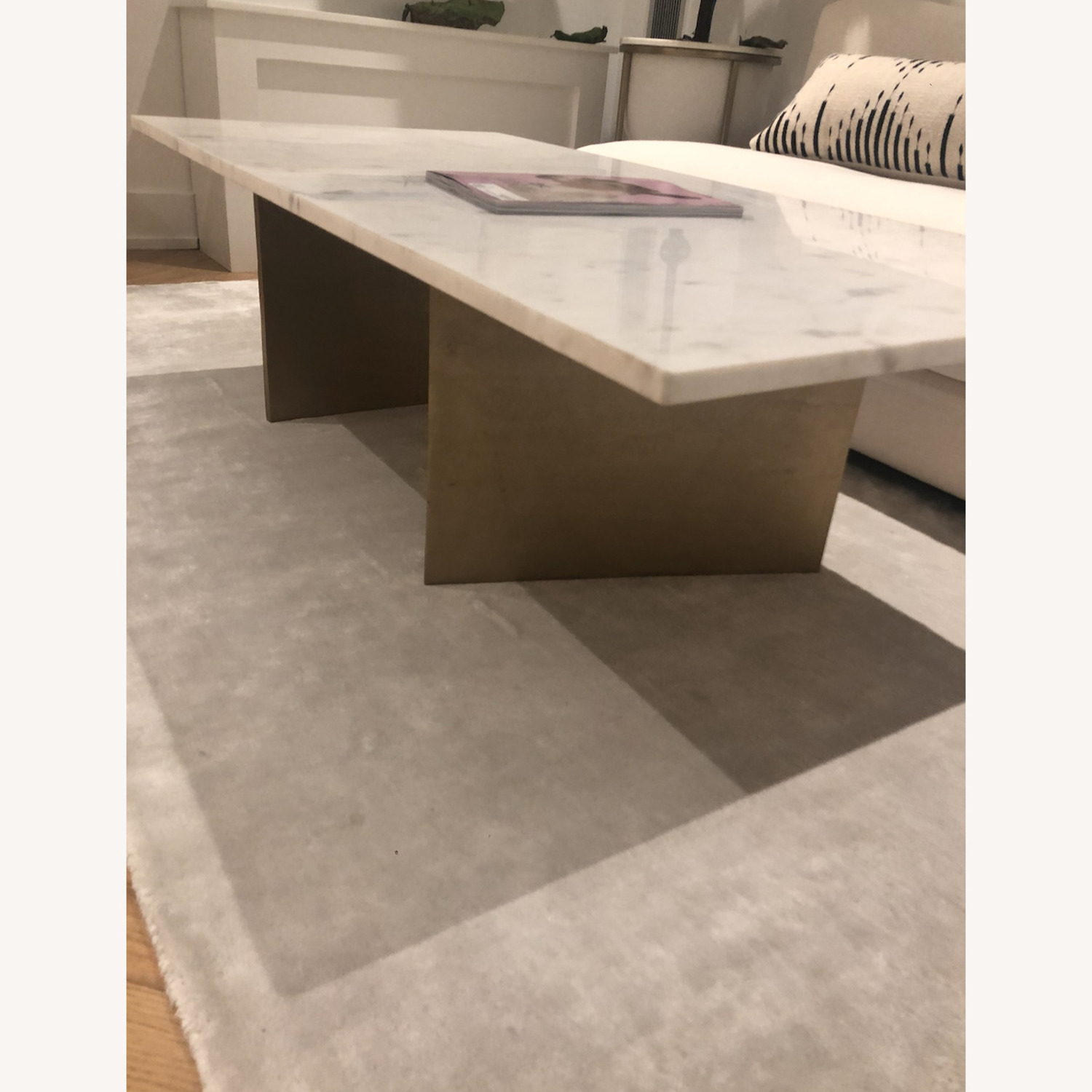 CB2 Oblique Marble Coffee Table