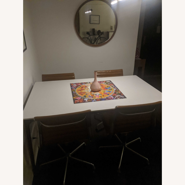 West Elm Quartz Canto Dining Table - image-4