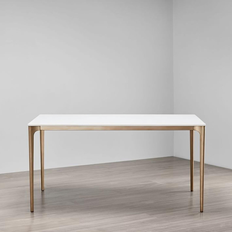 West Elm Quartz Canto Dining Table - image-1