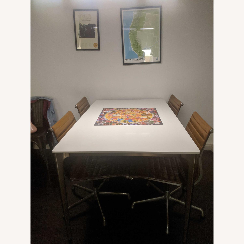 West Elm Quartz Canto Dining Table - image-2
