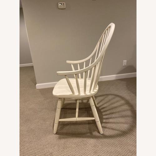 Ethan Allen Gilbert White Dining Armchairs
