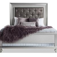 Bob's Diva II Queen Bed Frame w/ Jewel Tufted Headboard