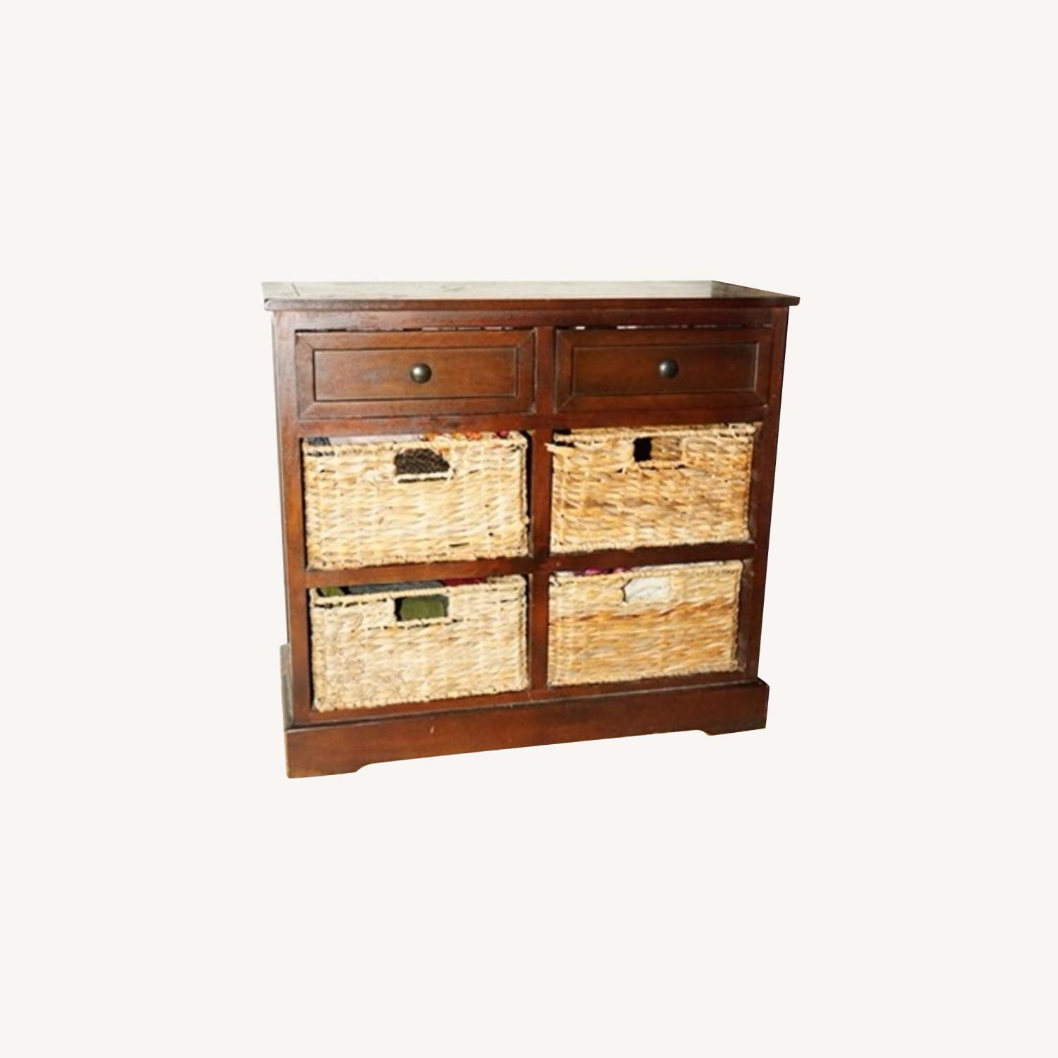 Functional Fine Art Small Wood Dresser w/ Baskets