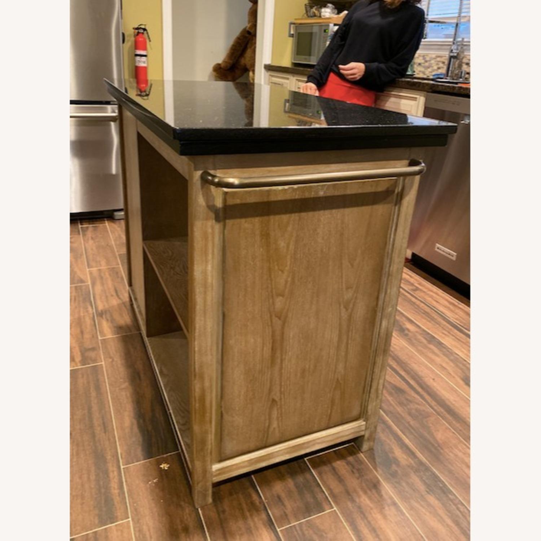 Wildon Home Delora Kitchen Island w/ Custom Made Granite Top