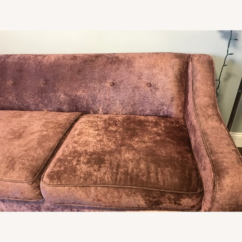 Urban Outfitters Tufted Crushed Velvet Pink Sofa