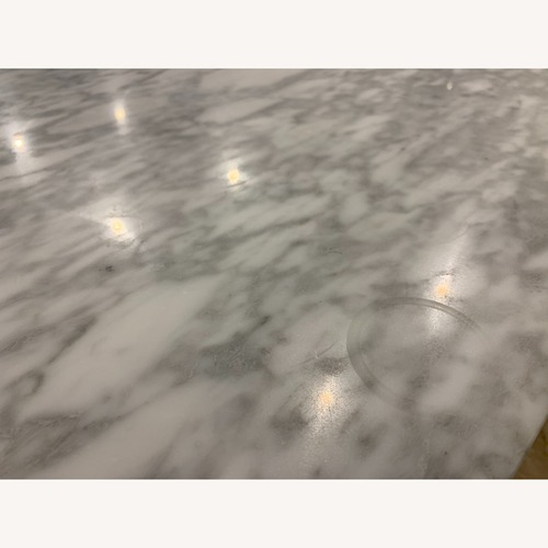 CB2 Marble Top Dining Table