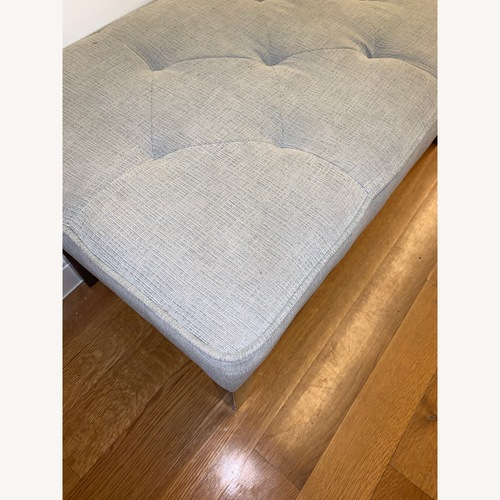 Target Tufted Gray Bench