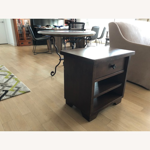 Pottery Barn Sumatra Nightstands in Mahogany Stain