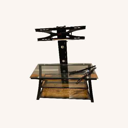 Target Glass & Black TV Stand w/ Mount