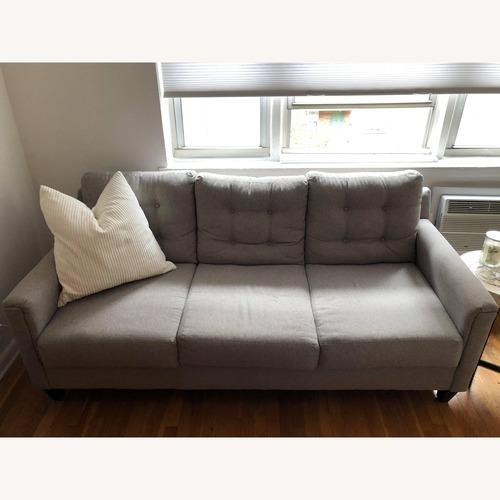 Light Grey Mid Century Modern Sofa