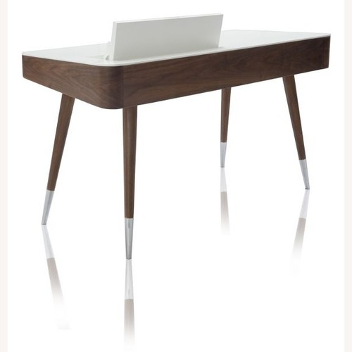 Modani Linea Office Desk in Walnut