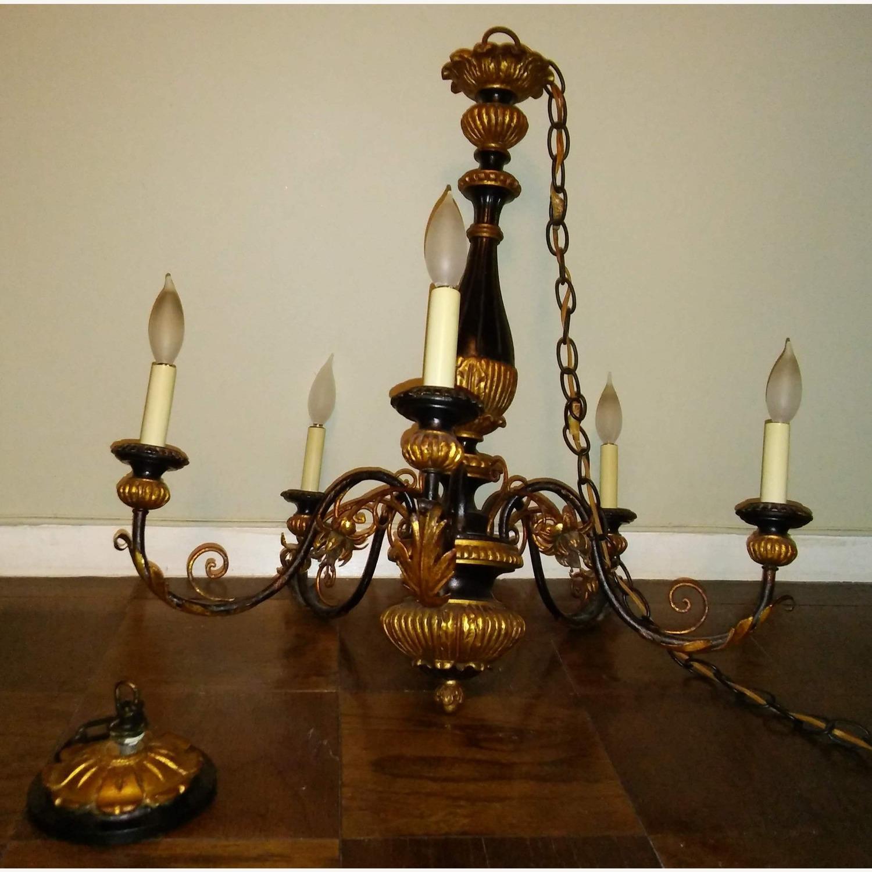 Antique Italian Five Light Polychrome Chandelier - image-10