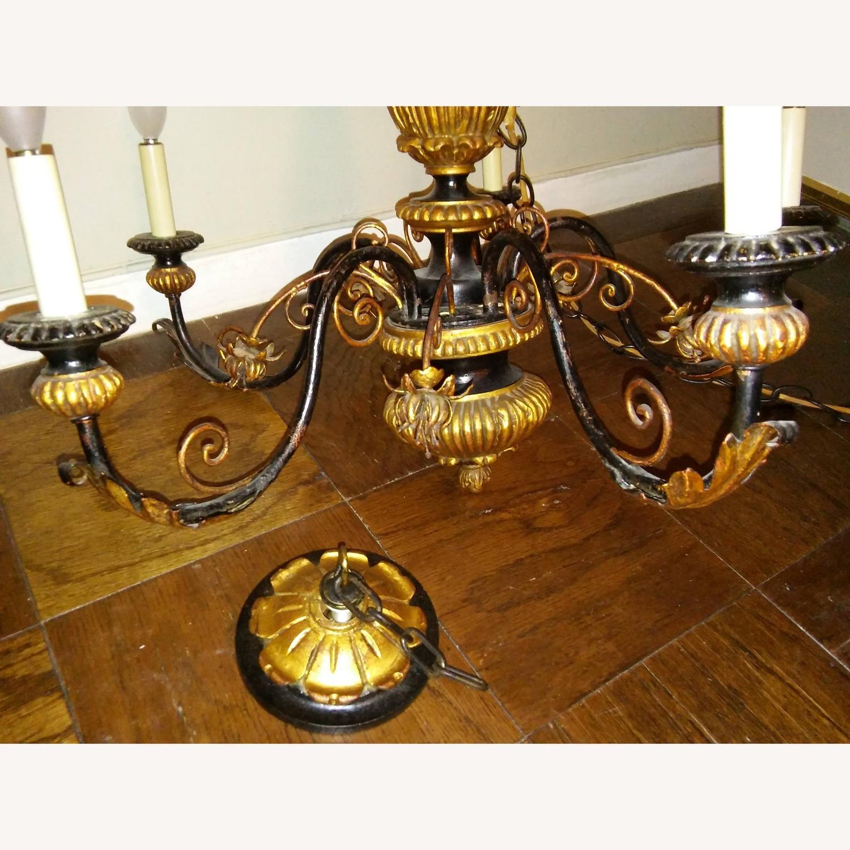 Antique Italian Five Light Polychrome Chandelier - image-3