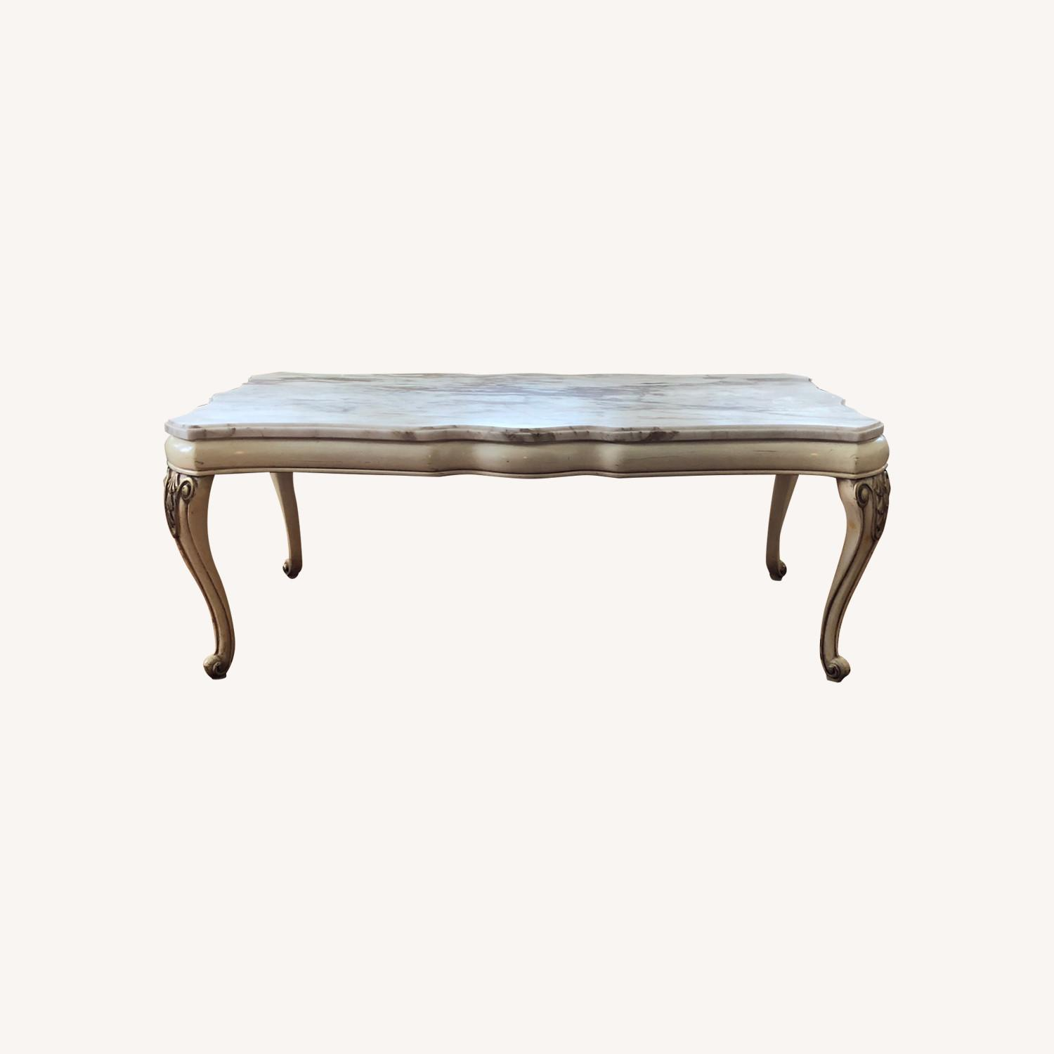 Italian 5 Piece Marble Top Tables - image-0