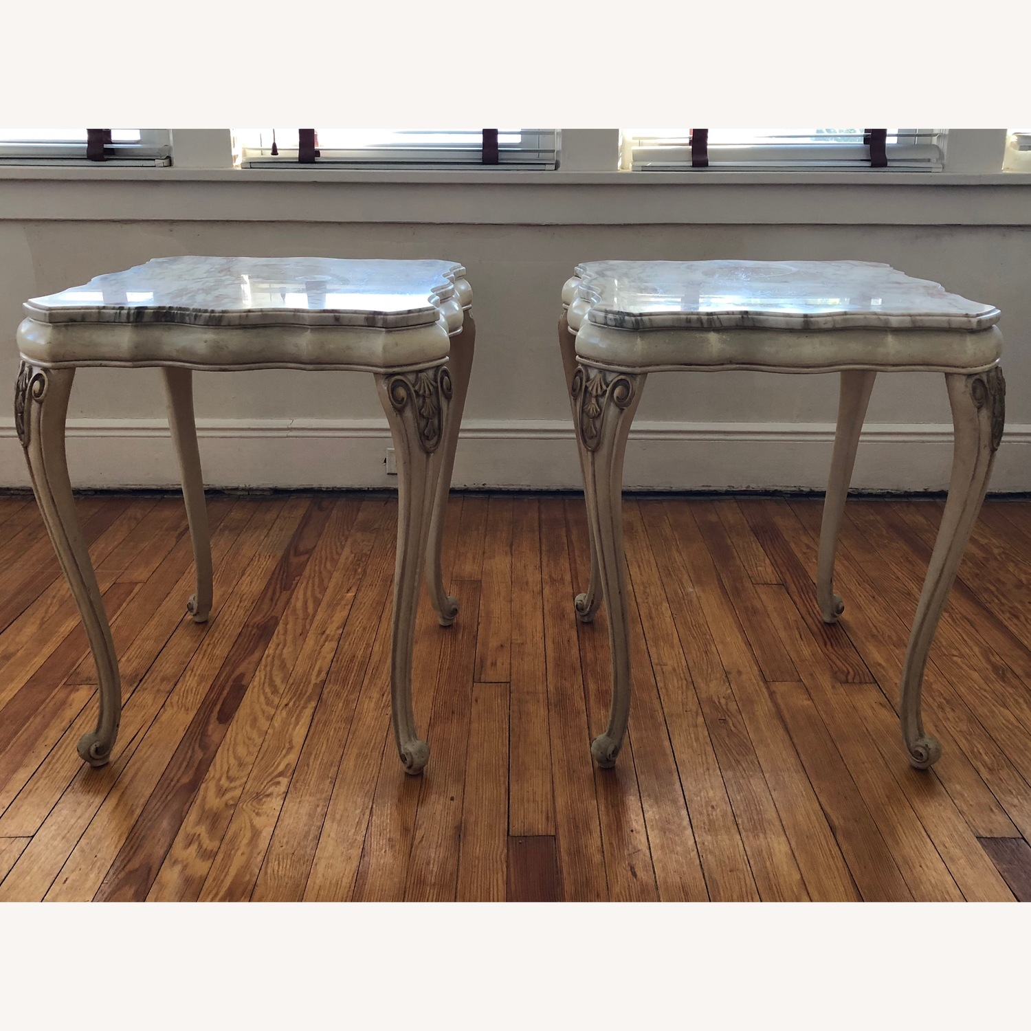 Italian 5 Piece Marble Top Tables - image-5