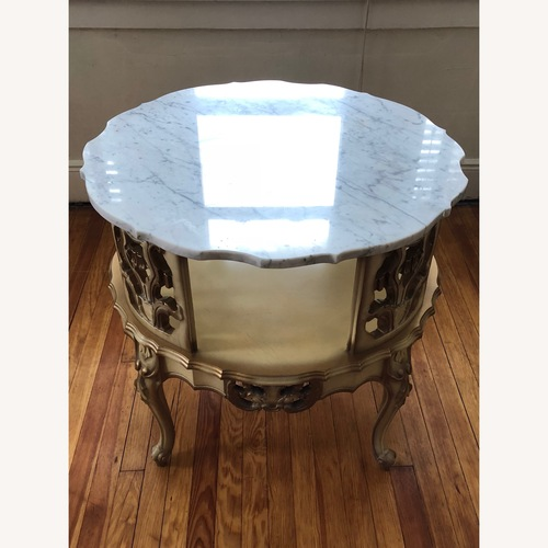 Italian 5 Piece Marble Top Tables