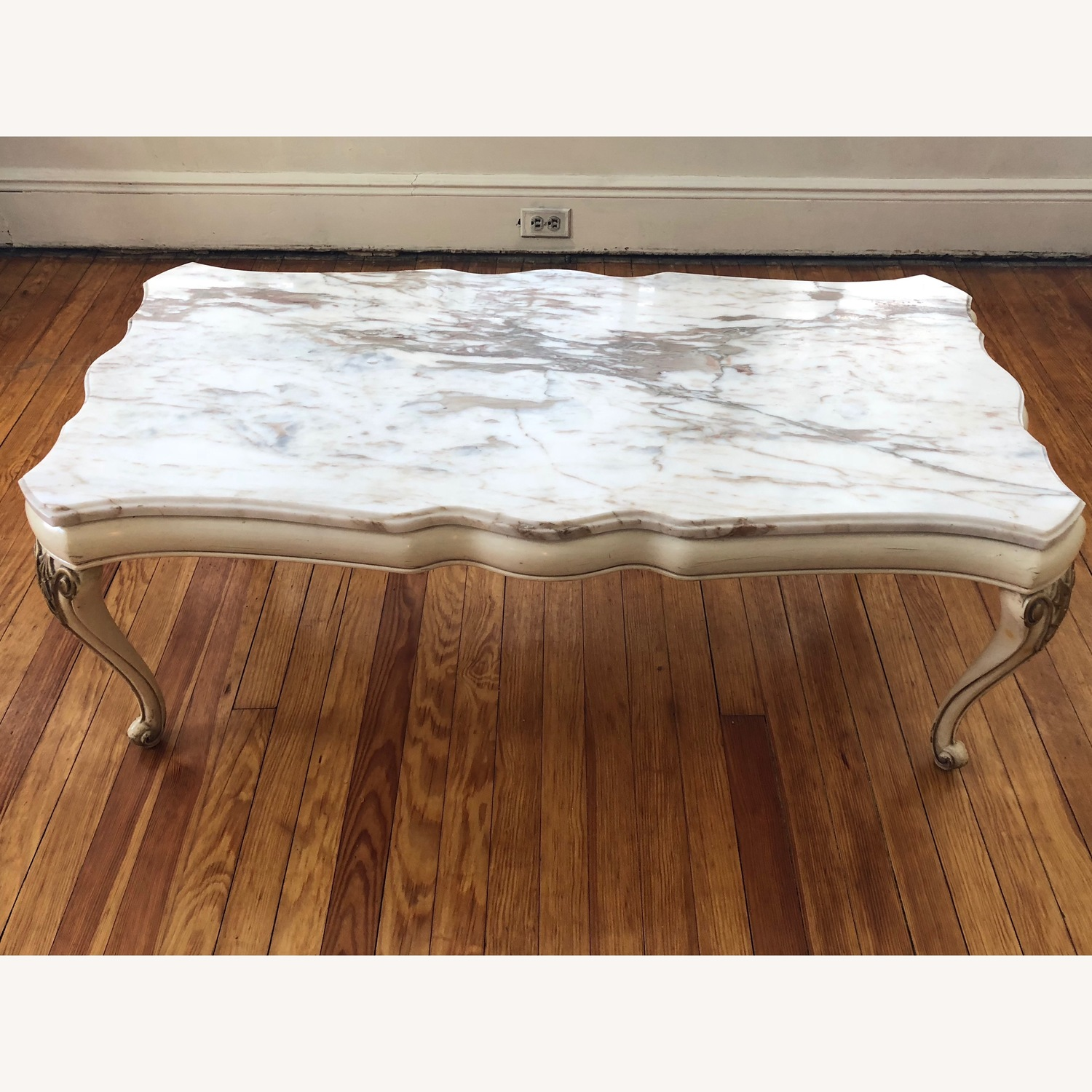 Italian 5 Piece Marble Top Tables - image-6