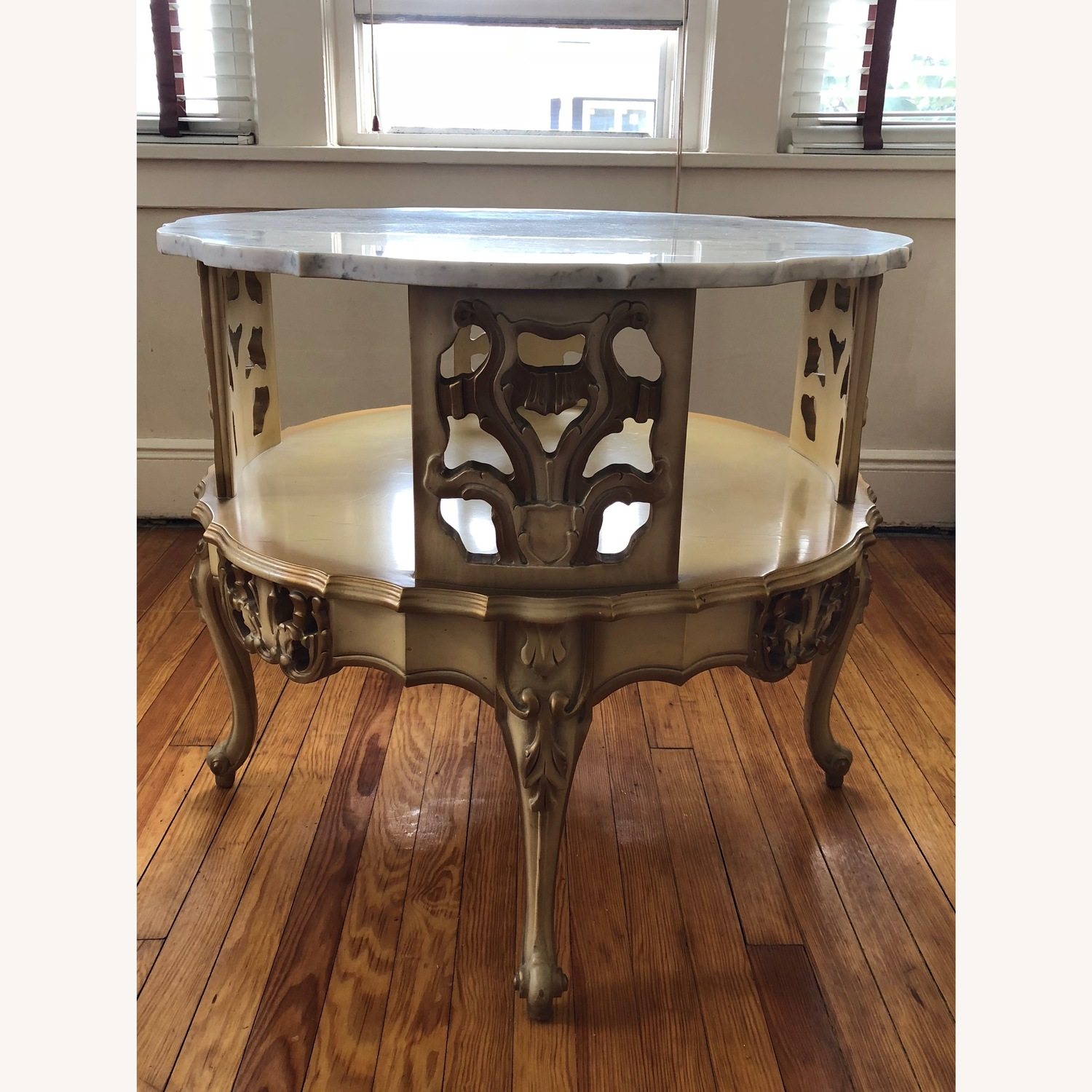 Italian 5 Piece Marble Top Tables - image-7