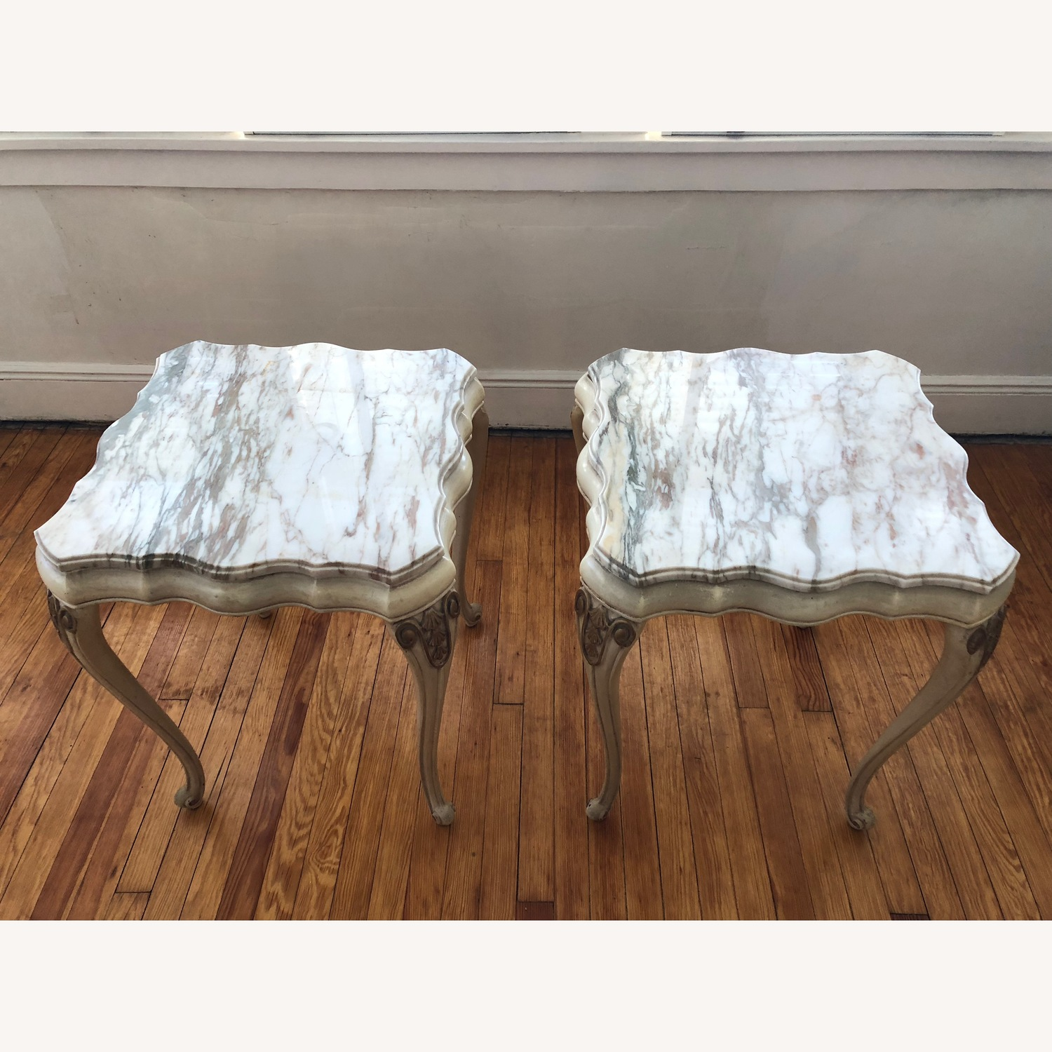 Italian 5 Piece Marble Top Tables - image-9