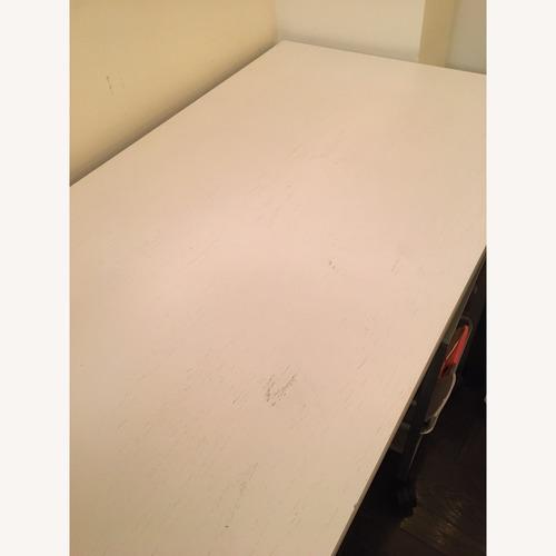 Crate & Barrel Finn White Top Desk w/ Salt Base