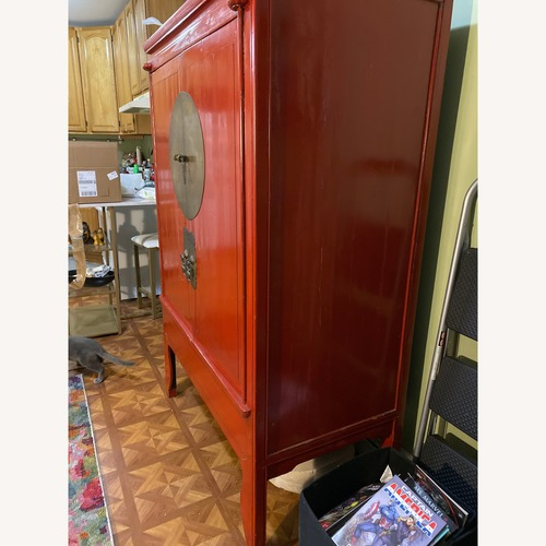 Red Lacquer Chinese Wedding Cabinet