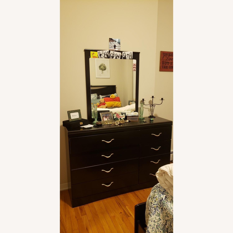 Ashley Dark Dresser w/ Mirror - image-1