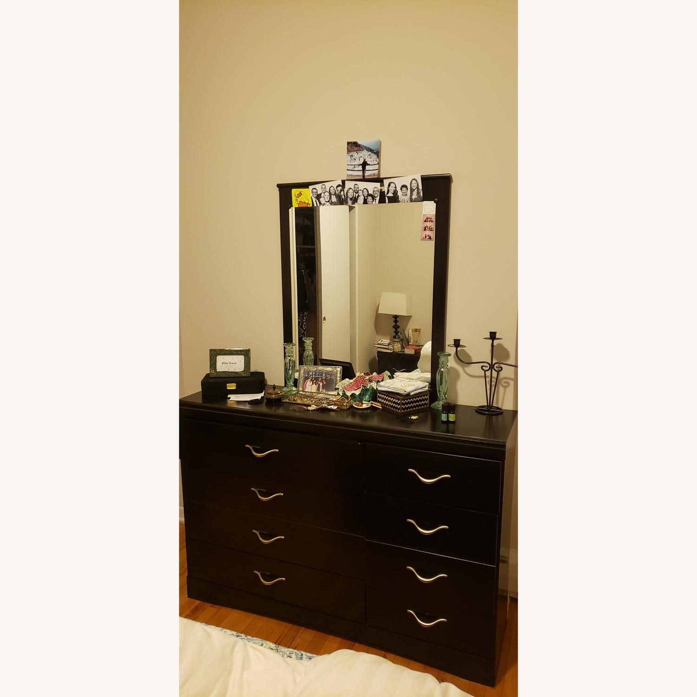 Ashley Dark Dresser w/ Mirror - image-3