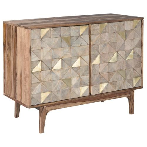 Ashley Carolmore Brown/Gold Accent Cabinet