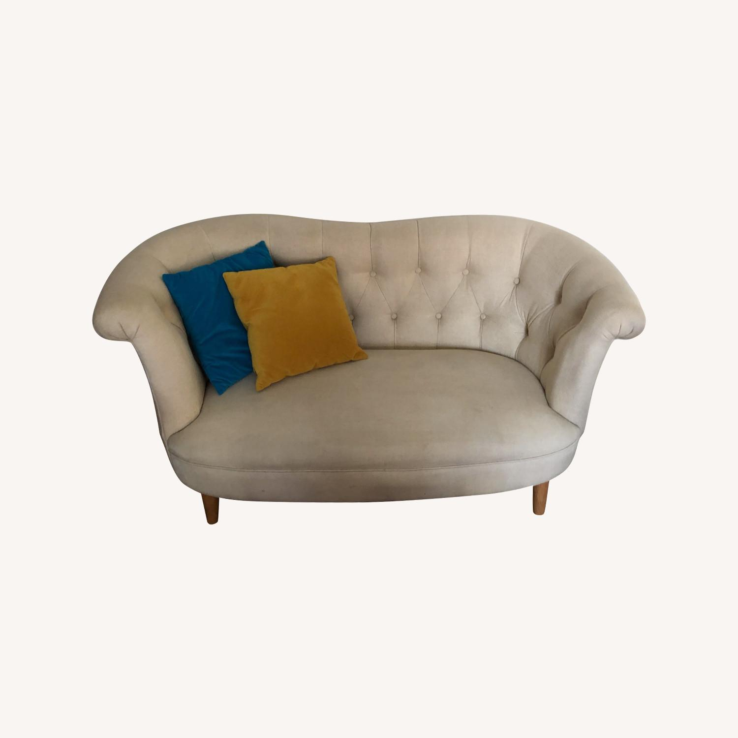Pier 1 Tufted Loveseat - image-0