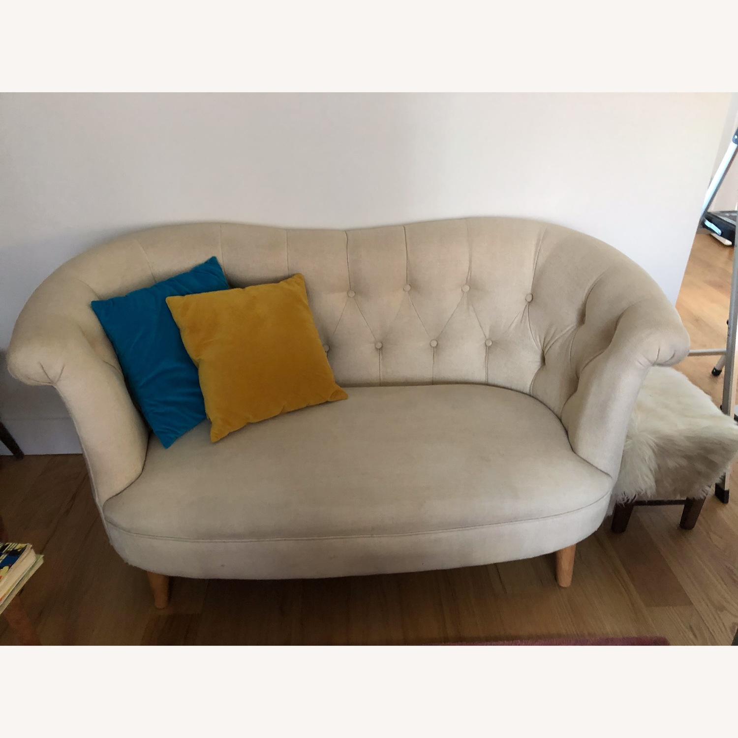 Pier 1 Tufted Loveseat - image-1