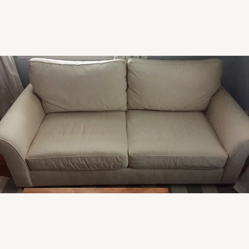 Pottery Barn Cream Comfort Roll Upholstered Sofa
