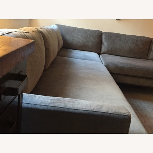 West Elm Andes 3-Piece Sectional Sofa in Mineral Grey