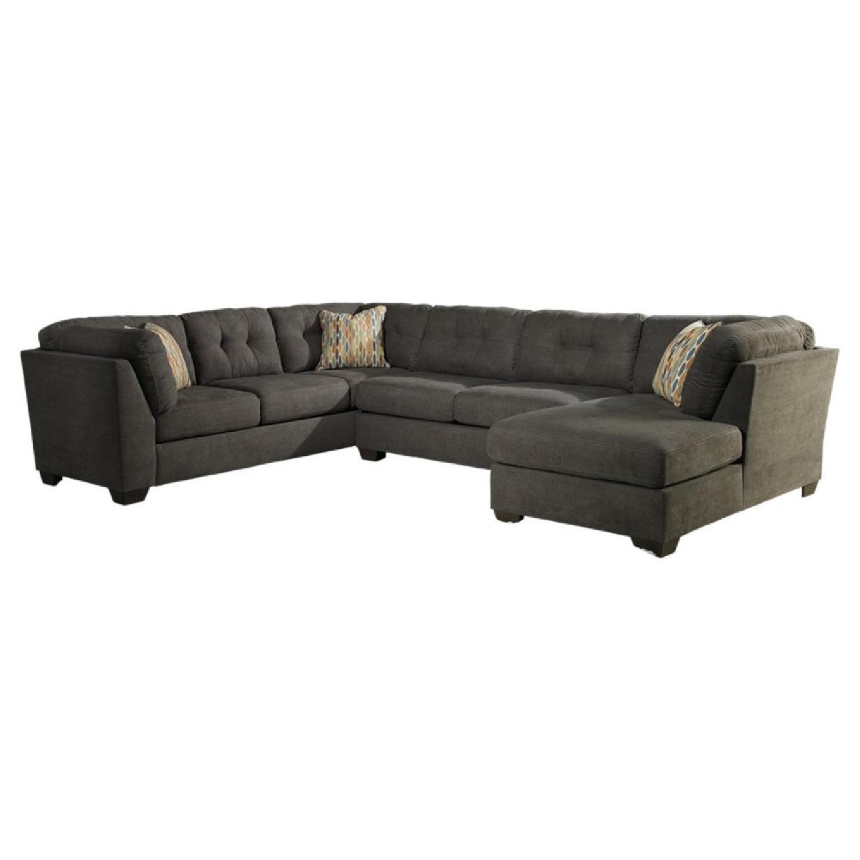 Ashley Delta City 3 Piece Sleeper Sectional Sofa - image-0
