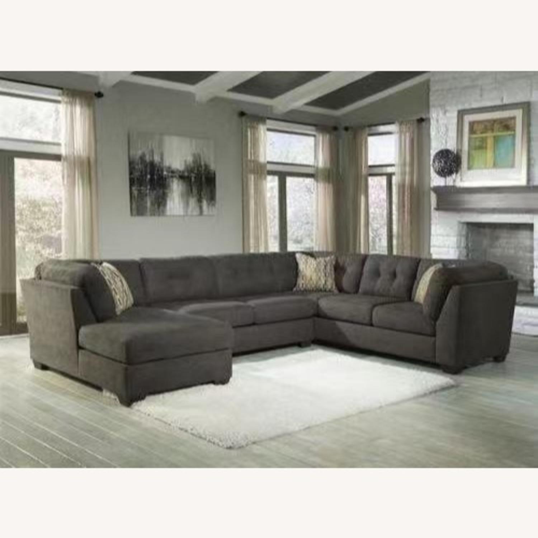 Ashley Delta City 3 Piece Sleeper Sectional Sofa - image-1